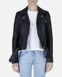 Designers Remix   Black Aida Soft Biker Jacket   Lyst