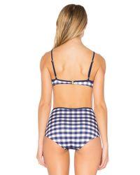Solid & Striped Blue The Brigitte Bikini Top
