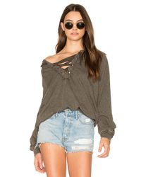 Project Social T Multicolor Abby Lace Up Hoodie
