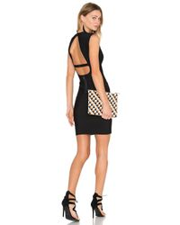 BCBGMAXAZRIA Black Oralie Open Back Dress