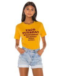 MINKPINK Multicolor Taco Week Tee