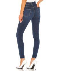 J Brand Blue Natasha Sky High Skinny. Size 28.