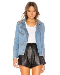 Urban Outfitters Studded Western ライダースジャケット Blue