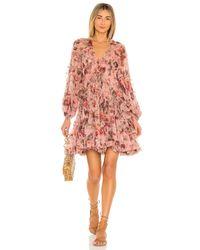 Платье Cassia В Цвете Musk Floral Zimmermann, цвет: Pink