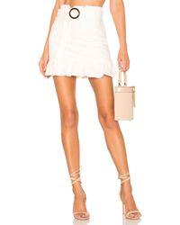 Lovers + Friends White Camden Mini Skirt