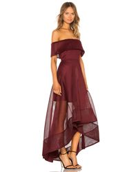 Bronx and Banco Red X REVOLVE Tulip Gown