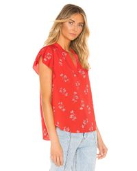 Joie Red Marlina Blouse