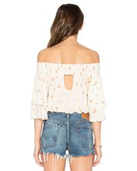 Band Of Gypsies - Multicolor Poinsettia Floral Blouse - Lyst