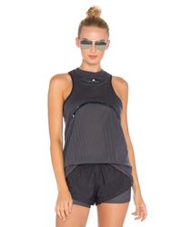 Adidas By Stella McCartney Gray Yoga Mesh Tank