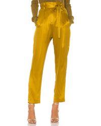 Michelle Mason ペーパーバッグクロップドトラウザー Yellow