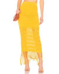 X Revolve Sandra Skirt House of Harlow 1960 en coloris Yellow