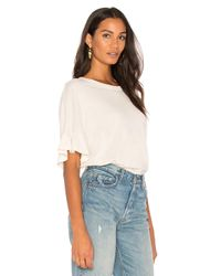 The Great - White The Ruffle Sleeve Tee - Lyst
