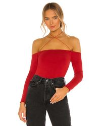h:ours Red Real Love Bodysuit