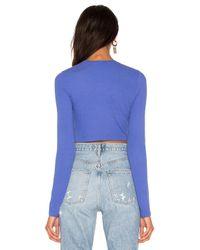 Cotton Citizen Blue The Venice Crop Shirt
