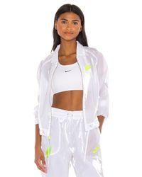 Nike White NSW Air Sheen Jacket