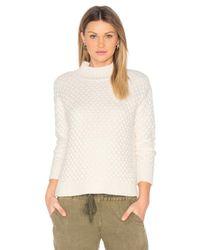 1.STATE | Black Honeycomb Turtleneck Sweater | Lyst