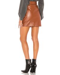 Lovers + Friends Brown Kyrie Mini Skirt