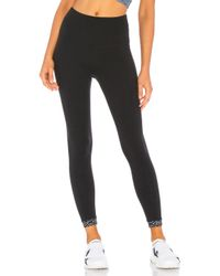 Beyond Yoga Black Badlands High Waisted Banded Midi Legging
