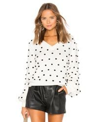 Jersey pulóver polka dot MAJORELLE de color White