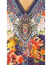 Camilla - Multicolor Plunging V Neck One Piece - Lyst