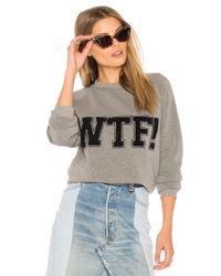 Rebecca Minkoff - Gray Wtf Classic Crew Sweatshirt - Lyst