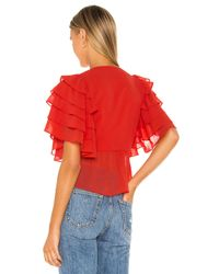 Lovers + Friends Georgie トップ Red