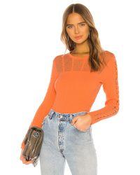 KENZO Orange Solid Pullover