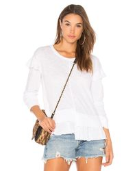 Wilt White Big Shifted Ruffle Tee