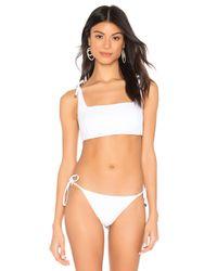 Haut De Maillot De Bain Tie Shoulder Salinas en coloris White