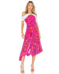 Tanya Taylor Pink Virginia Kleid