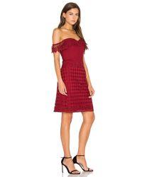 Lumier Red Losing My Edge Dress