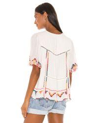 Tularosa White Ingrid Embroidered Top