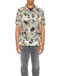 メンズ AllSaints Descent ショートスリーブシャツ Gray