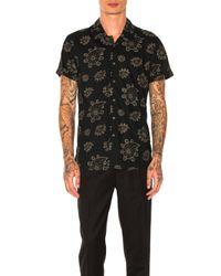 Scotch & Soda Black Hawaiian Shirt for men