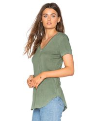 Cotton Citizen | Green The Mykonos V Neck Tee | Lyst