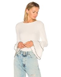 Endless Rose White Bell Sleeve Top