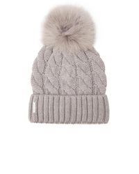 SOIA & KYO Multicolor Amalie Beanie In Gray.