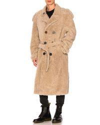 Off-White c/o Virgil Abloh Natural Shearling Trench Coat for men