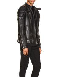 AllSaints Jasper Leather Biker Jacket in Black für Herren