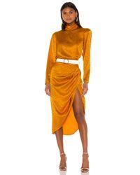 Ronny Kobo Orange Kaira Dress