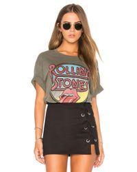 Daydreamer Multicolor Rolling Stones Retro Tongue Boyfriend Tee