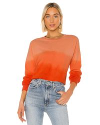 LNA Orange Drop Shoulder Sweatshirt