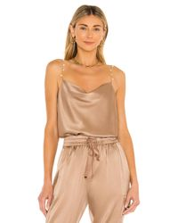 Cami NYC Brown Busy Cami in Tan. Size M.