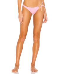 For Love & Lemons Pink Iman Laced Thong