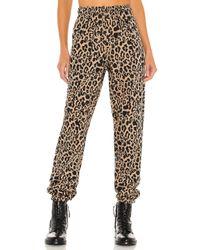 LNA Leopard スウェットパンツ Brown