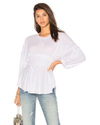 Free People - White Time Traveler Top - Lyst