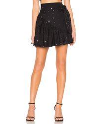 Lovers + Friends Black Bryant Mini Skirt