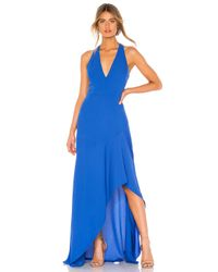 Vestido largo BCBGMAXAZRIA de color Blue