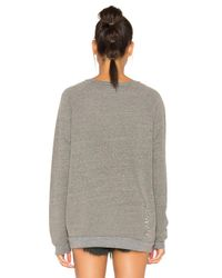 Michael Lauren Gray Draco Distressed Pullover