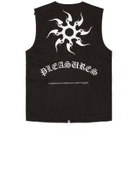 メンズ Pleasures ベスト Black